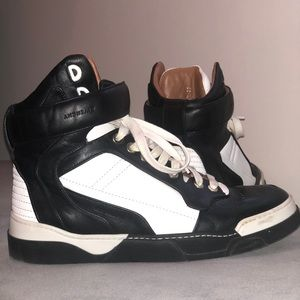 Givenchy Black & White High Top Sneakers